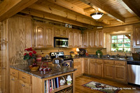Interior, horizontal, kitchen, Swift residence, Honest Abe Log Homes, Allgood, TN
