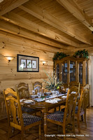 Interior, vertical, dining room, Swift residence, Honest Abe Log Homes, Allgood, TN