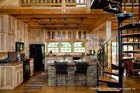 Interior, horizontal, kitchen, DeSocio residence, Henry, Tennessee, Honest Abe Log Homes