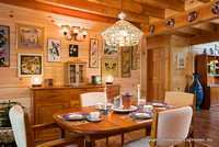 Interior, horizontal, dining room, Marshall residence, Grand Vista Bay, Rockwood, Tennessee, Honest Abe Log Homes
